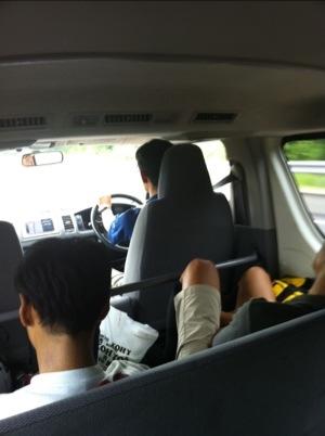 JBCF 石川ロード遠征 移動中