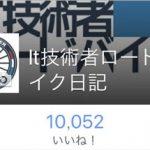 【御礼】Facebookページ1万イイね!突破について