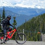 カナダ自転車旅行 ウィスラーヴィレッジ周辺のトレイルでMTB